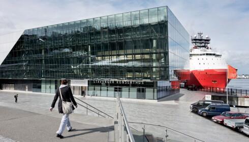 ARRANGERES HER: Stavanger kommune inviterer til folkefest for kongefamilien her utenfor konserthuset i Stavanger kommende mandag. Foto: Tommy Ellingsen / NTB scanpix