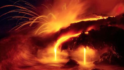 Miles (42) gikk litt for langt da han skulle ta bilde av vulkanen