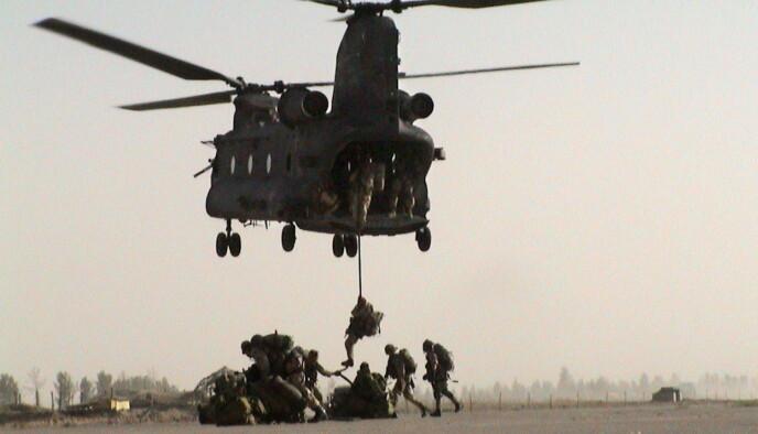 NORSKE SOLDATER: I 20 år jaktet norske soldater på terrorister i Afghanistan. Bilder er av norske spesialsoldater fra FSK som opererte både i Mazar-e Sharif og hovedstaden Kabul. Foto: Forsvaret