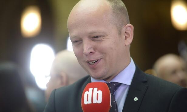 ØNSKER VENDELA VELKOMMEN: Senterpartiets leder Trygve Slagsvold Vedum. Foto: Thomas Rasmus Skaug / Dagbladet