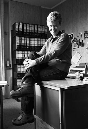 <strong>EN UTRETTELIG FORKJEMPER:</strong> Kim Friele var leder for homorganisasjonen Det norske forbundet av 1948 fra 1966–71, og deretter dens første (og siste) ansatte generalsekretær frem til 1989. Foto: Trygve Indrelid / Aftenposten&nbsp;