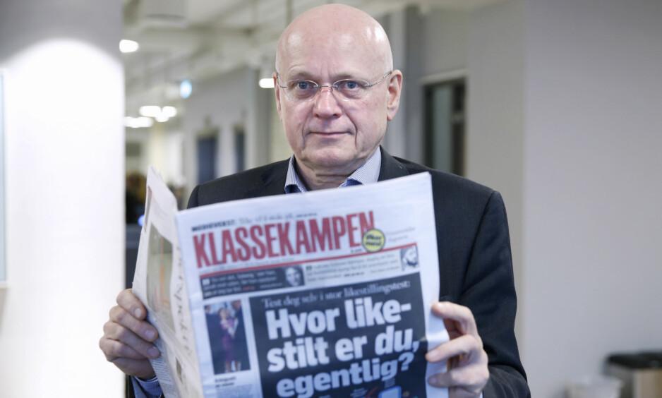 GÅR AV: Bjørgulv Braanen går av som redaktør i Klassekampen etter nesten 16 år i sjefsstolen. Foto: Vidar Ruud / NTB scanpix