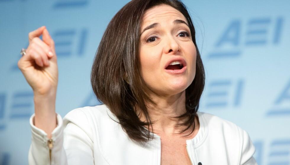SENTRAL: Driftsjef Sheryl Sandberg i Facebook har vært sentral i selskapets lobbyarbeid, ifølge interne e-poster Dagbladet har lest. Foto: Allison Shelley/Getty Images/AFP / Ntb Scanpix