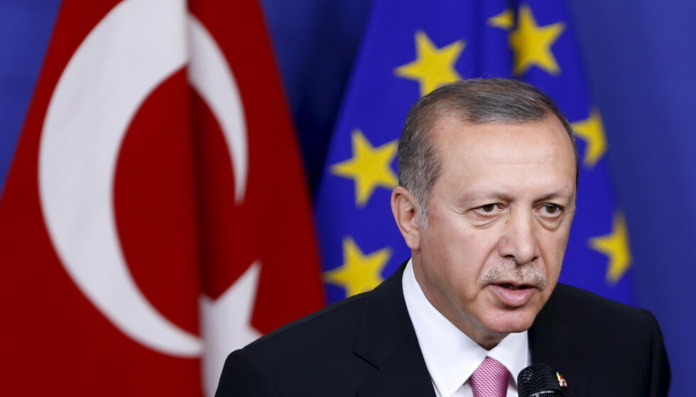 MISFORNØYD: Tyrkias president Recep Tayyip Erdogan er lite fornøyd med EU-frysen.