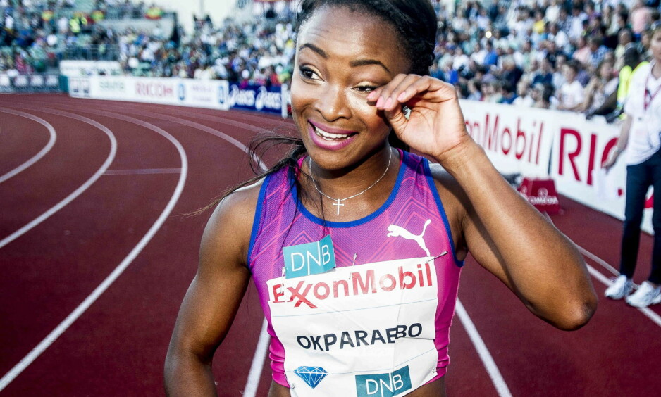VRAKES: Sprinteren Ezinne Okparaebo er vraket fra landslaget i friidrett i 2017, ifølge NRK. Foto: Thomas Rasmus Skaug / Dagbladet