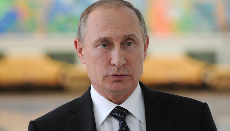 PUTIN BEKYMRER KASKI: Russlands president Vladimir Putin må vite at Norge er sterke i nord, sier SV. Regjeringen sier partiet kan puste lettet ut. Foto: EPA/MICHAEL KLIMENTYEV