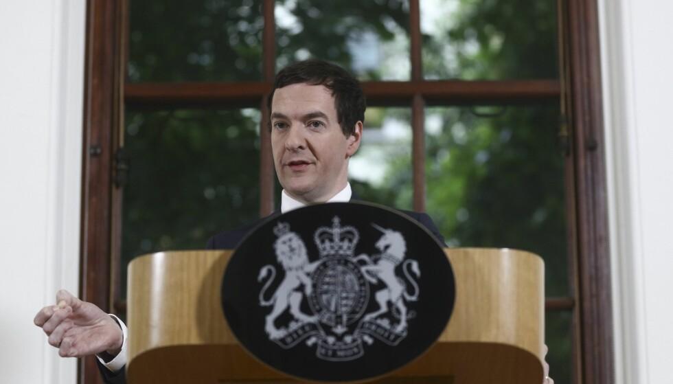 EKS-FINANSMINISTER: George Osborne fra Det konservative parti er gjengangsfigur i de interne Facebook-notatene som er lekket. Foto: SIMON DAWSON / EPA/ BLOOMBERG / NTB Scanpix