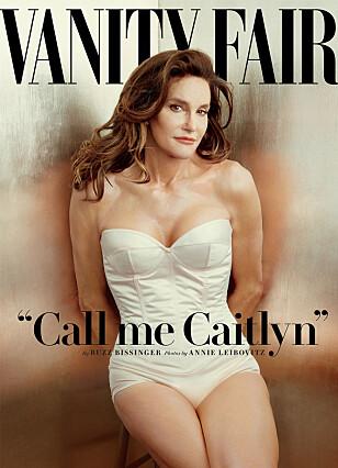 SOM KVINNE: Caitlyn Jenner viste seg som kvinne for første gang på forsiden av Vanity Fair. Foto: NTB / Scanpix