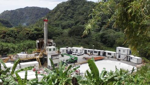 <b>UNDER BYGGING:</b> Geotermisk kraftverk på den karibiske øya Dominica. Foto: ISOR