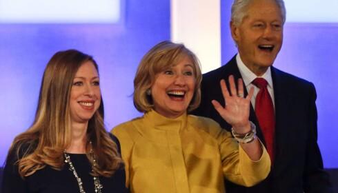 <b>VELDEDIG:</b> Clinton-stiftelsen heter egentlig «Bill, Hillary & Chelsea Clinton Foundation». Den veldedige stiftelsen jobber globalt for miljø, helse og kvinners rettigheter. Foto: EPA