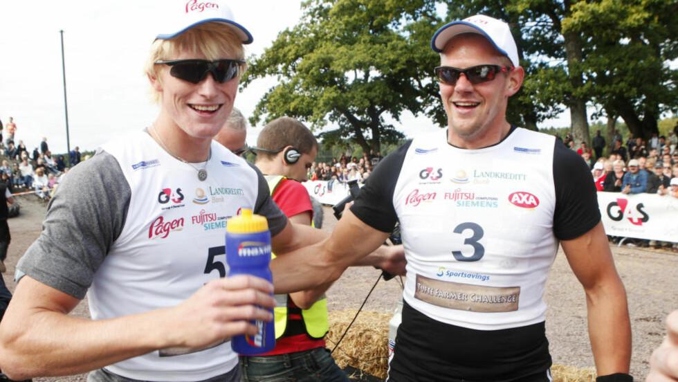 TIL OL:   Kjetil Borch (t.v.) og Olaf Tufte vant i dag og er klare for OL. Dette bildet er fra en tidligere anledning. Foto: Heiko Junge / NTB Scanpix