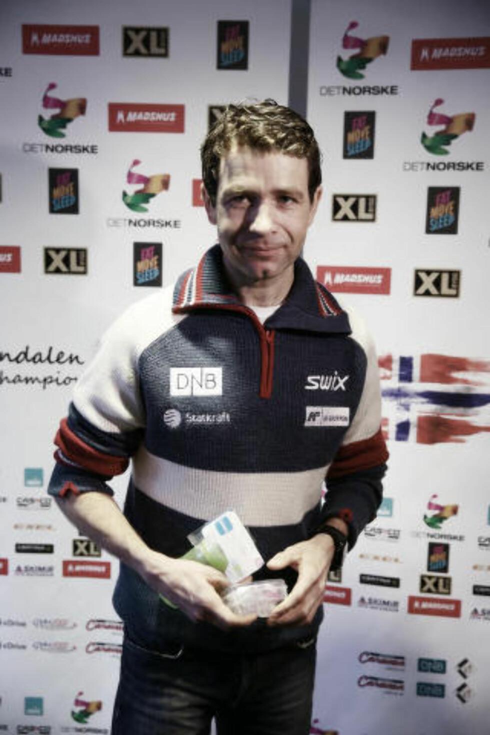 SKAL BLI FAR: Ole Einar Bjørndalen fortalte om mer enn bare den videre karrieren. Foto: Bjørn Langsem, Dagbladet