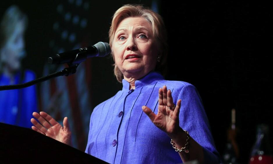 GRANSKET: Hillary Clinton er gransket av FBI i e-postsaken. Foto: Tannen Maury / EPA / NTB Scanpix