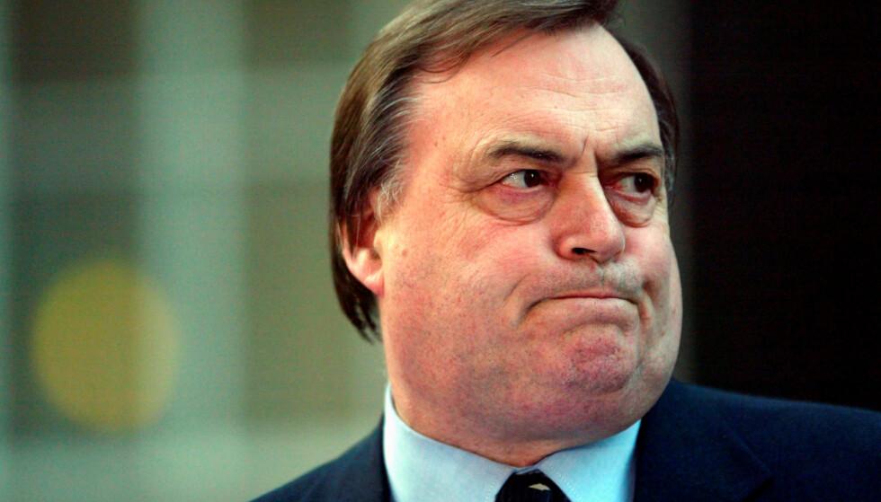 VAR VISESTATSMINISTER: John Prescott var visestatsministeren til Tony Blair. Foto: REUTERS/Toby Melville/File Photo