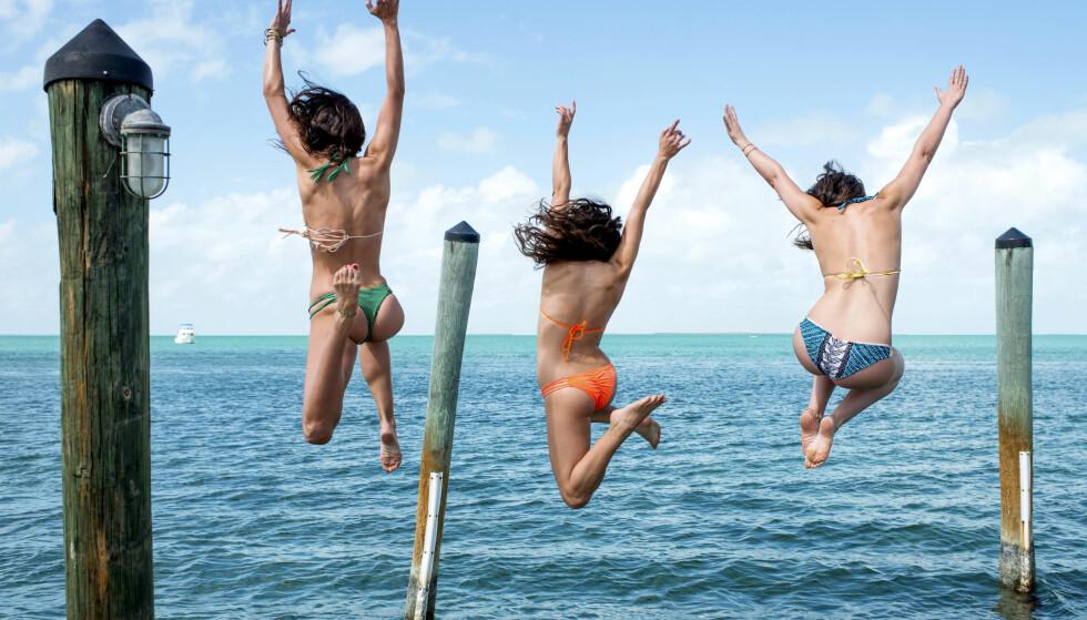HOPP I HAVET!: Etter en lang og rolig vinter, er en ny sesong med sol og sommer i gang i Marbella. Alle foto: Ocean Club, Se og Hør, NTB Scanpix