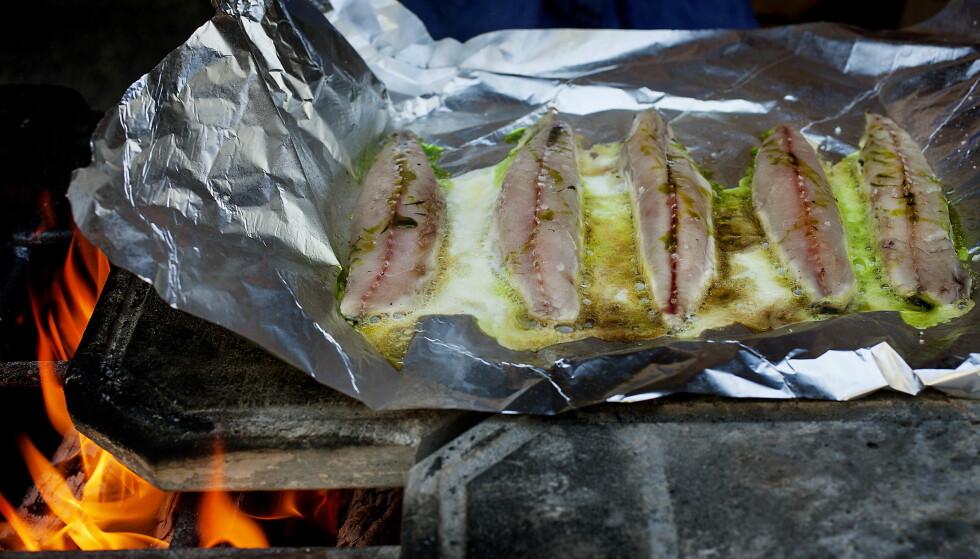 FERSKE: Sommerens sprellende ferske makrell blir ekstra god når den grilles og nytes utendørs. Foto: METTE MØLLER