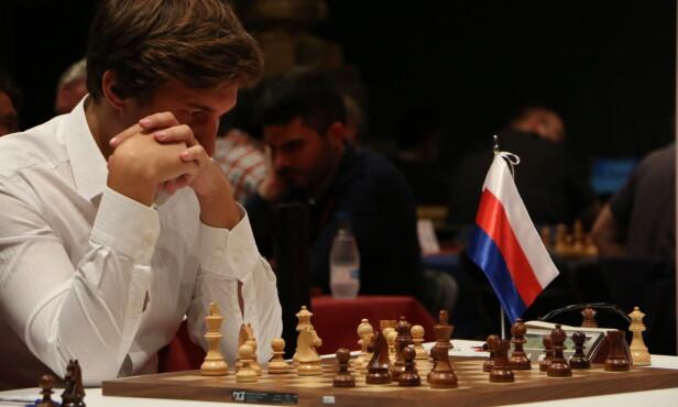 <strong>FORTREKKER MOSKVA:</strong> Karjakin legger ikke skjul på at han ville likt å spilt med hjemmebanefordel mot Carlsen. Her under Bilbao Masters. Foto: Joachim Baardsen/Dagbladet