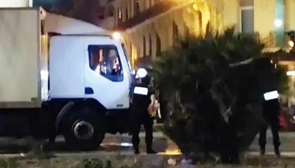 Dramatisk video av at politiet skyter gjerningsmannen i Nice