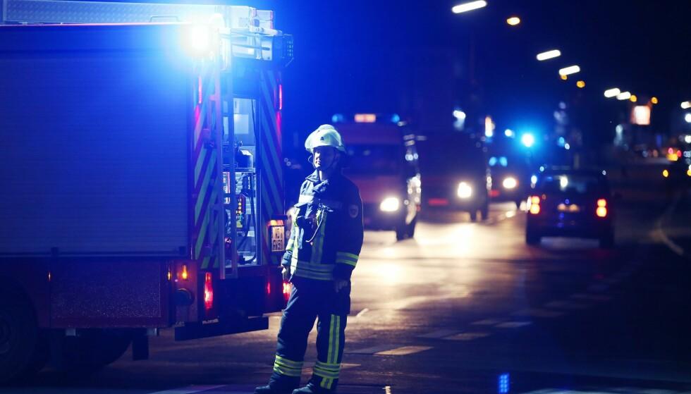 Ifølge lokale medier er 21 personer skadet. Den tyske radiokanalen Radio Gong melder at gjerningsmannen ser ut til å ha blitt skutt. Tysk politi vil ikke uttale seg om dette stemmer. Foto: EPA/Karl-Josef Hildenbrand