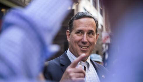 IMPONERT: Tidligere Donald Trump-konkurrent og senator Rick Santorum fortalte til Dagbladet at han har latt seg imponere av Ivanka. Foto: Trym Mogen / Dagblade