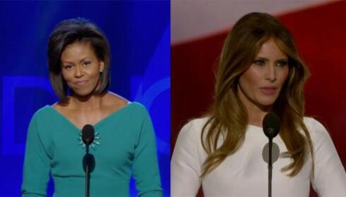Anklager Melania Trump for å stjele talen til Michelle Obama fra 2008