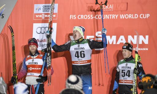 USIKKER: Sami Jauhojärvi (t.h.) er usikker på hvem han skal tro på i saken om Martin Johnsrud Sundby (t.h.). Foto: Anders Wiklund / TT