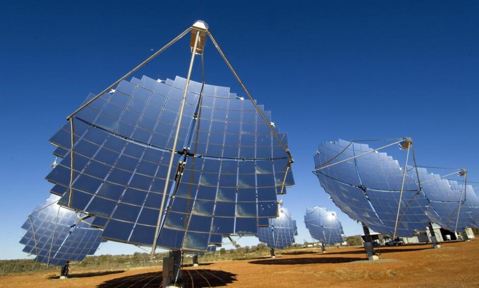 RENERE FREMTID: Solenergi gir håp om en renere fremtid og kan brukes til matproduksjon i ørkenen, skriver Frederic Hauge. Foto: Steven David Miller / Nature Picture Library / Scanpix