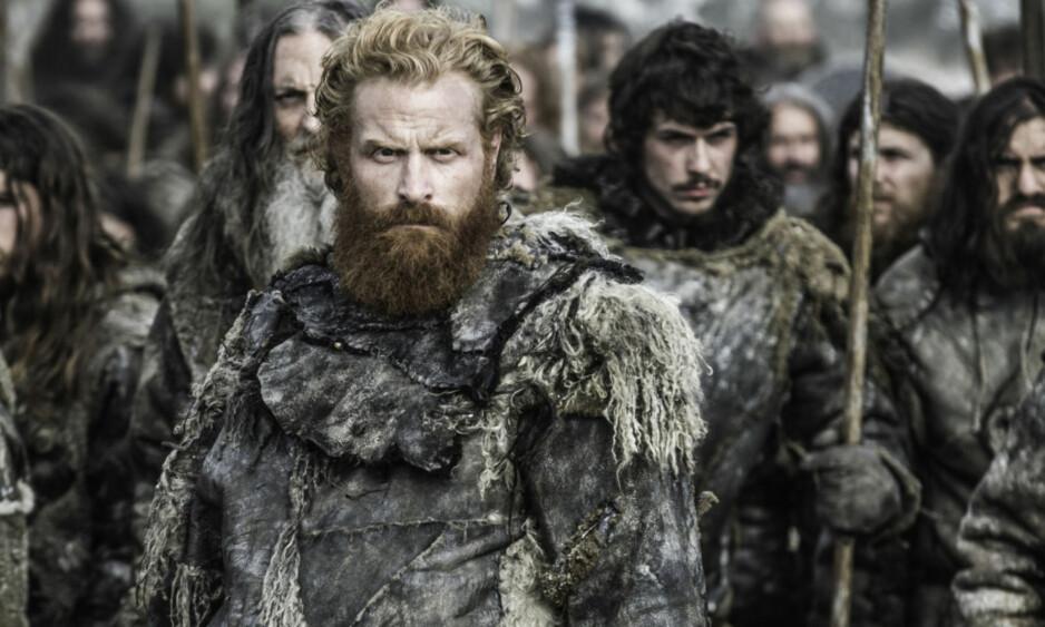 <strong>TO SESONGER IGJEN:</strong> I dag bekreftet serieskaperen HBO at den åttende sesongen av Game of Thrones blir den siste. Her er Tormund Giantsbane, spilt av norske Kristofer Hivju, avbildet i en scene fra sesong seks, som kom i vår. Foto: HBO Nordic