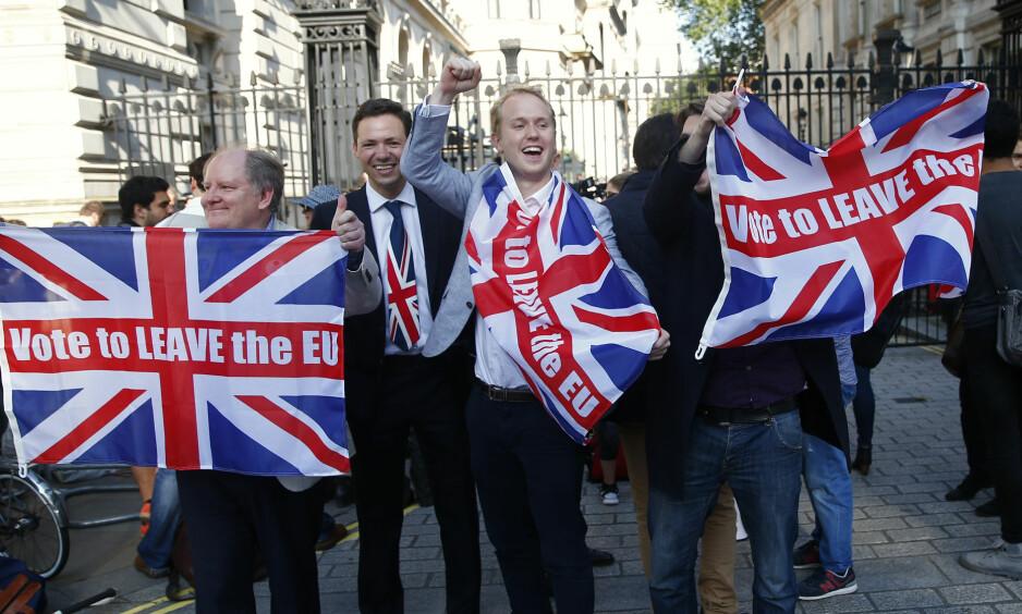 AVSTAND: Brexit er et uttrykk for den avstand som er oppstått mellom sosialdemokratiet og vanlige folk i Europa, et tomrom som høyrepopulister står klare til å fylle, skriver Bernt Hagtvet.  Foto:Neil Hall / Reuters / NTB Scanpix