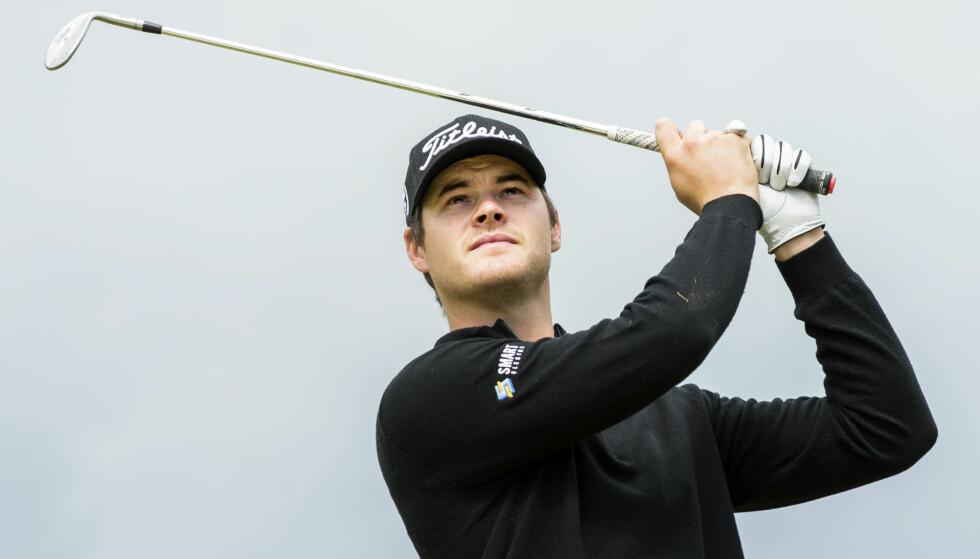 SKADET: Golfspilleren Espen Kofstad. Foto: Berit Roald / NTB scanpix