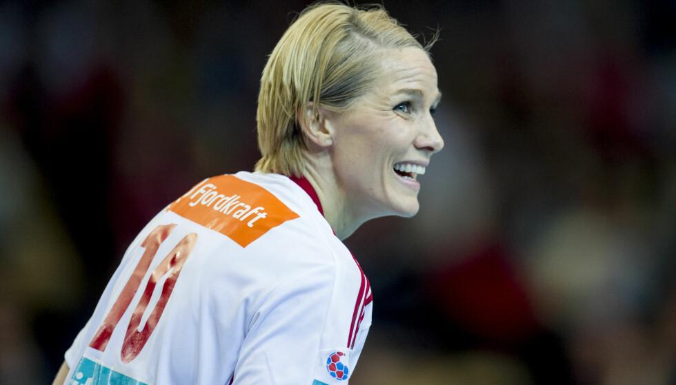 MATCHVINNER: Gro Hammerseng-Edin ble matchvinner da hun satte 30-29 med få sekunder igjen for Larvik mot danske Esbjerg i mesterligaen lørdag. BIldet er fra en tidligere anledning. Foto: Jon Olav Nesvold / NTB scanpix