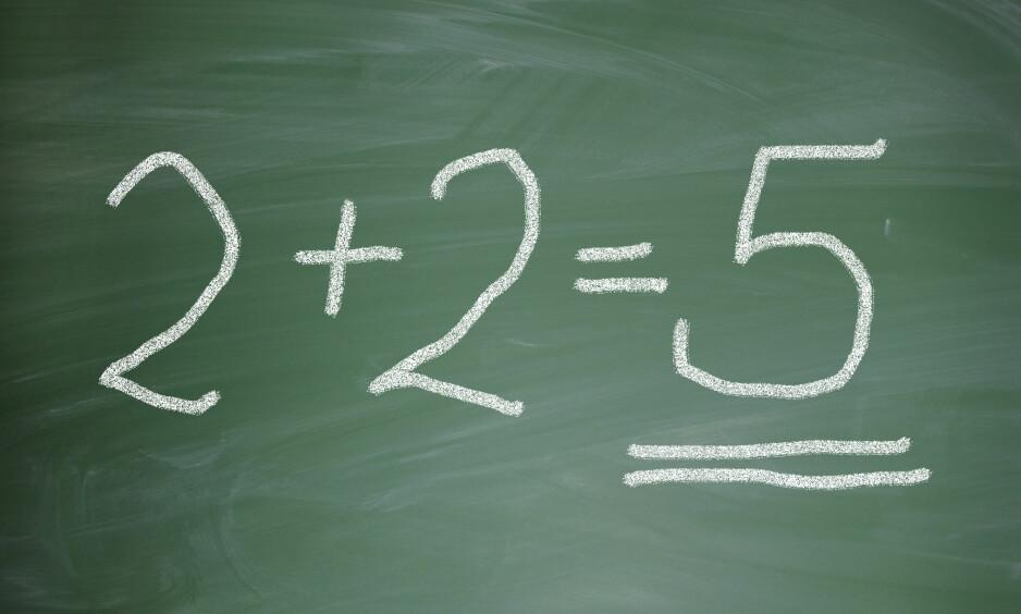 47 PROSENT FEIL: Oppgavenes vanskelighetsgrad ligger ikke høyere enn det nybakte studenter bør beherske etter matematikkopplæring i grunnskole og i videregående skole, likevel ble nesten halvparten av svarene feil. FOTO: SCANPIX