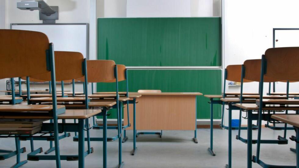 UTEBLIR: Elevorganisasjonen forventer at tusener av elever holder seg borte fra undervisningen i dag. Foto: Thomas Raupach / Samfoto / NTB Scanpix