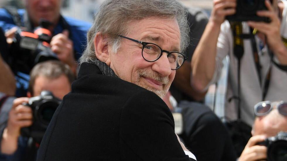 TROR PÅ FILMENS MAGI: Fantasifulle filmer kan gi folk håpet tilbake, mener regissør Steven Spielberg, som i dag gjestet filmfestivalen i Cannes. Foto: NTB Scanpix