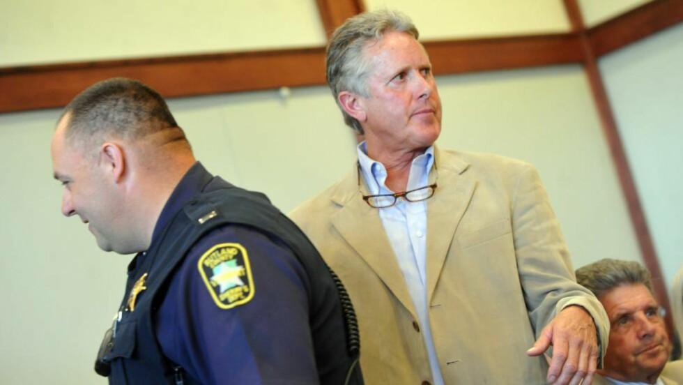 TILTALT: Bonden Craig Mosher er tiltalt for uaktsomt drap etter at en av oksene hans forårsaket en trafikkulykke. Foto: Anthony Edwards/The Rutland Herald via AP