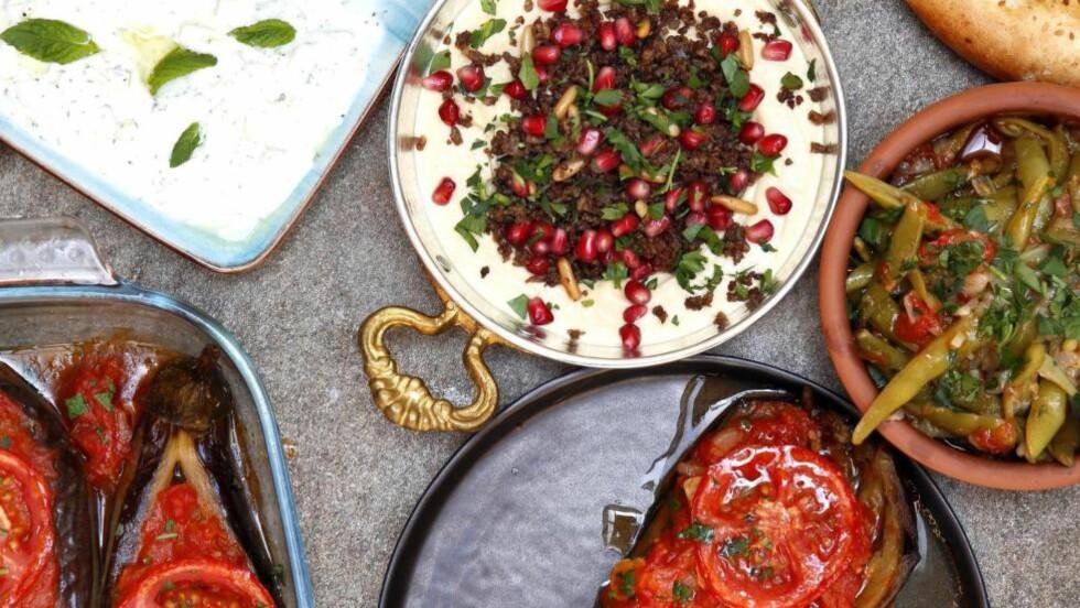 VANN I MUNN: I et halvt år har Andreas Viestad fått stadig mer lyst på tyrkisk mat etter å ha lest Vidars blogg «Et kjøkken i Istanbul». Til slutt måtte han dra hjem til ham og smake på alle de eksotiske rettene. Foto: METTE RANDEM