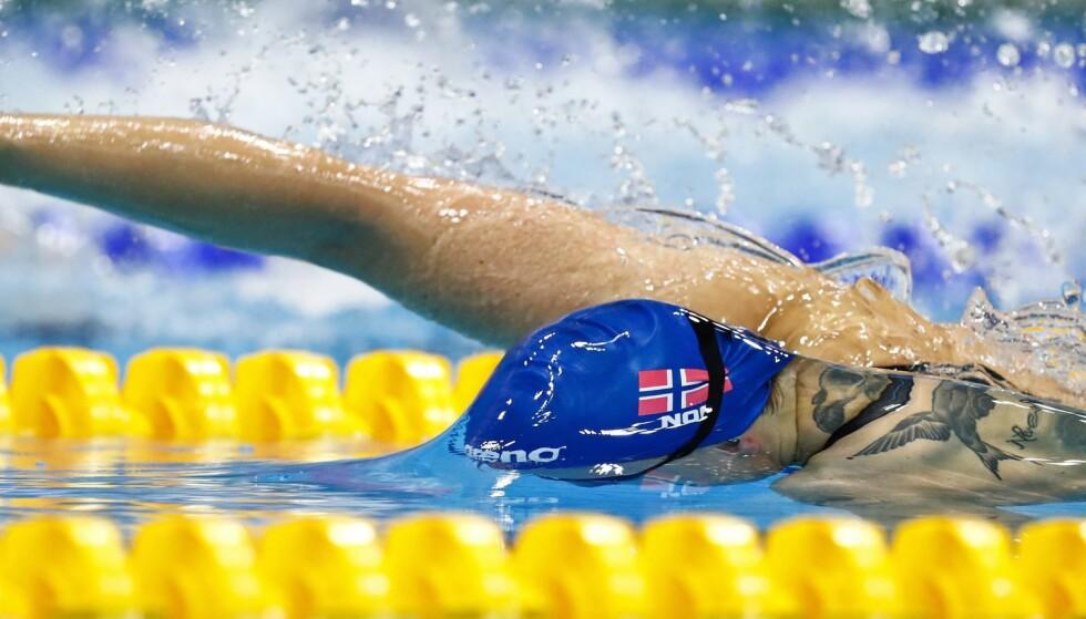 NY REKORD: Susann Bjørnsen vant sitt heat, onsdag, og klinte til med ny norgesrekord. Dessverre holdt det ikke til semifinale. Foto: EPA/PATRICK B. KRAEMER