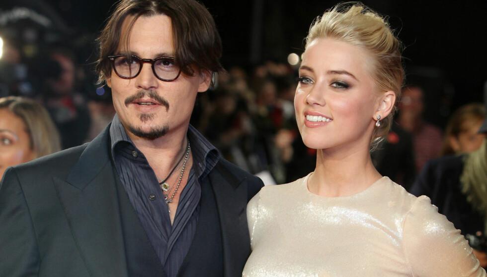 DEN GANG DA: Johnny Depp og Amber Heard gikk hver til sitt etter kun 15 måneders ekteskap. Foto: AP Photo/Joel Ryan, File