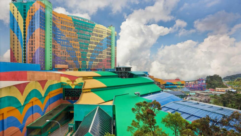 VERDENS STØRSTE: First World Hotel and Plaza i Genting Highlands i Pahang i Malaysia har 7351 rom, noe som sikrer det en plass i Guinness rekordbok som verdens største hotell. Foto: BENSON KUA / CREATIVE COMMONS