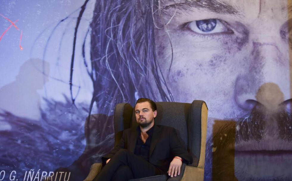 SKUESPILLERKONGE: Leonardo DiCaprio kan vinne Oscar for sin rolle i «The Revenant». Foto: Ronaldo Schemidt / AFP / NTB Scanpix