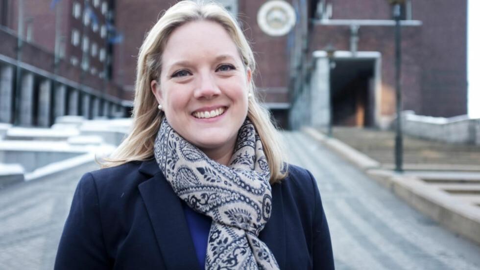 NY LEDER: Aina Stenersen (Frp) er enstemmig innstilt som ny leder av Oslo Frp. Foto: Christian Sørgjerd / Aftenposten