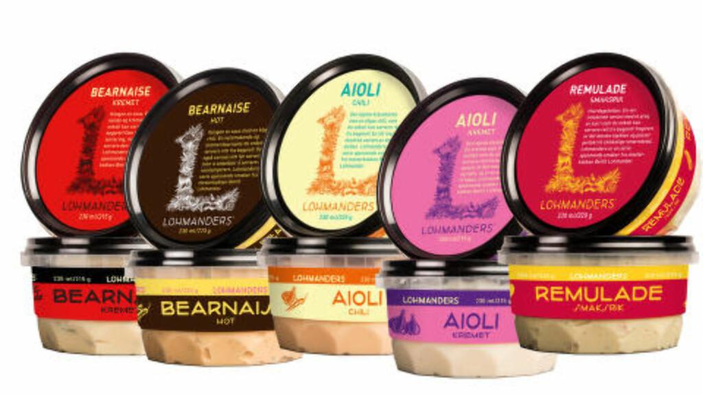 KALDE SAUSER: Svenske Lohman's kalde sauser lanseres nå på det norske markedet. Bearnaisesausene kan også varmes opp. Foto: LOHMAN'S