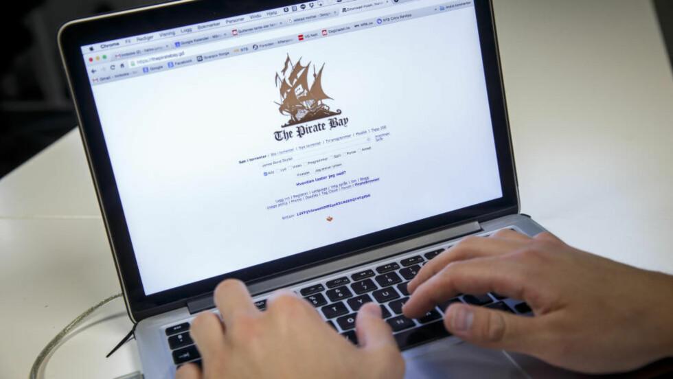 STREAMING: The Pirate Bay har lansert en ny funksjon som gjør det mulig for brukerne å streame innholdet, i stedet for å laste ned. Foto: Heiko Junge / NTB scanpix