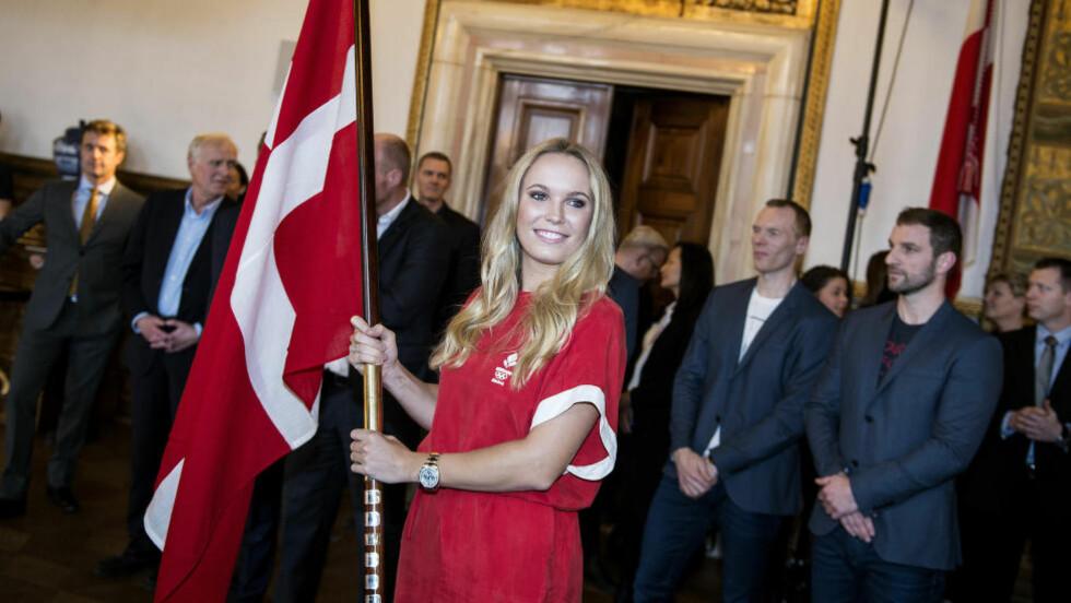 KRITIKK: Ikke alle i dansk idrett liker at tennisspiller Caroline Wozniacki skal være flaggbærer i Rio-OL. Foto: NTB Scanpix