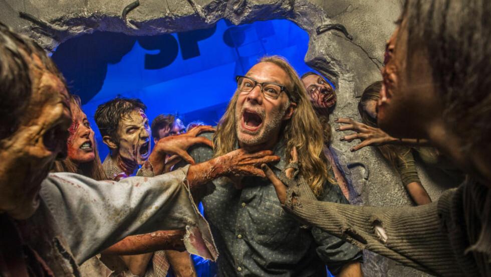 ANSVAR FOR SPESIALEFFEKTER: Greg Nicotero er produsent og ansvarlig for spesialeffekter i The Walking Dead. Foto: Universal Studios Florida / Roberto Gonzalez