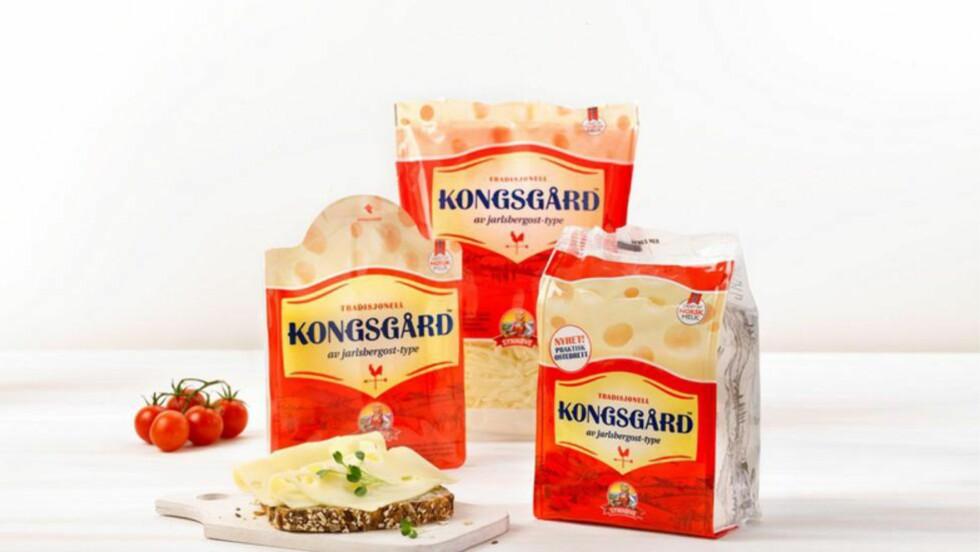 NAVNESTRID:  Tine har fått foreløpig medhold av Follo tingrett om å nekte konkurrenten Synnøve Finden å selge ost med teksten «en jarlsbergost-type».  Foto: Synnøve Finden