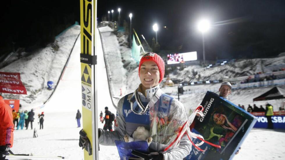 IMPONERTE:  Johann Andre Forfang ble nummer to  I Vikersund lørdag. Foto: Terje Bendiksby / NTB scanpix