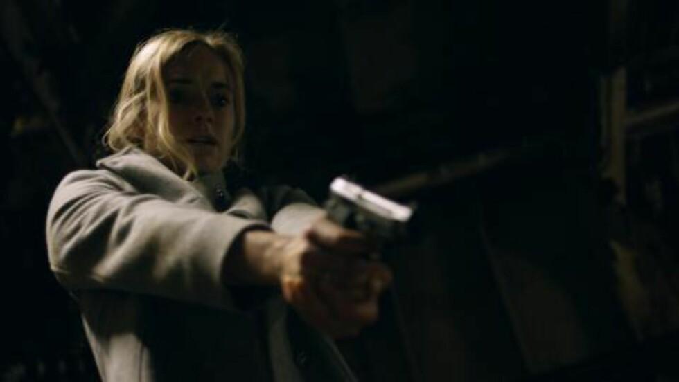 ELLEN:  Den danske skuespilleren Laura Christensen spiller Ellen Claussen i «Mammon». Foto: NRK