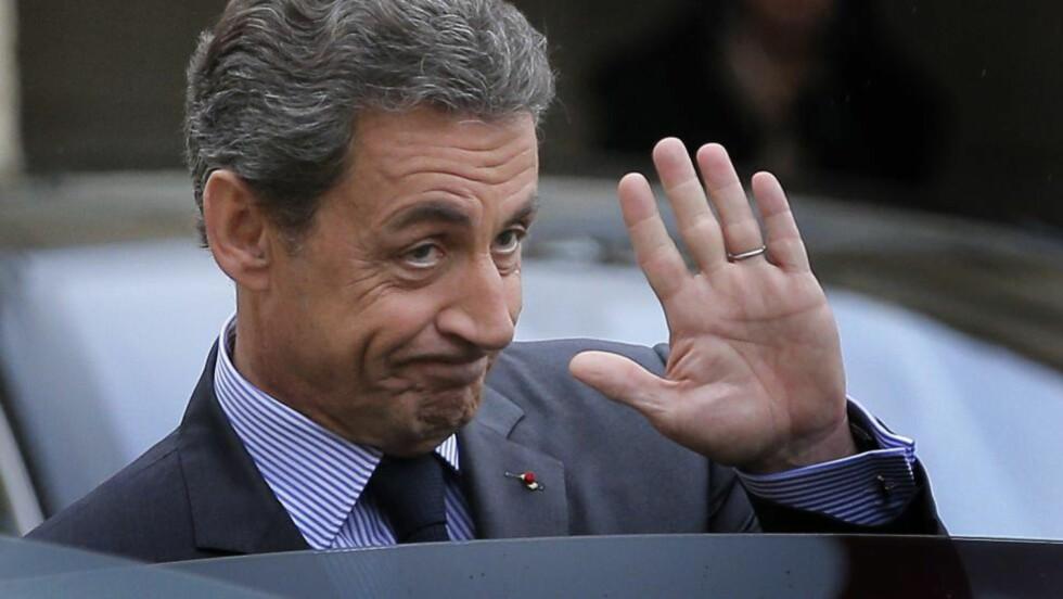 ETTERFORSKES: Frankrikes tidligere president Nicolas Sarkozy er siktet for ulovlig valgkampfinansiering i 2012.  Foto: AP Photo/Christophe Ena/NTB scanpix
