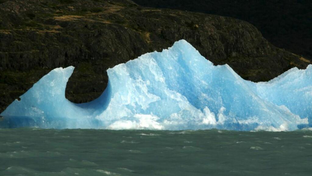 KLIMAPROBLEMER: Isbreer over hele verden, som denne utenfor Argentina, endres varmere globale temperaturer Foto: REUTERS/Enrique Marcarian